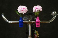 Nieuwe trend het fietsvaasje. Made in holland.