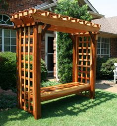 Enjoy Your Backyard Even More With A Deluxe Pergola Swing From Garden Structure Design