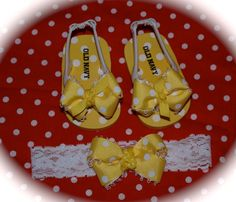 Custom Boutique Newborn Baby Girl Disney Vacation PRINCESS BELLE Beauty and the Beast m2m Ribbon Flip Flops and Headband Bow Baby