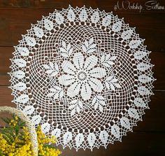 Crochet Tablecloth Pattern, Crochet Motif Patterns, Crochet Lace Edging, Thread Crochet, Crochet Doilies, Crochet Hats, Lace Art, Needle Tatting, Hobbies And Crafts