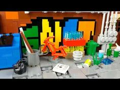 Lego Alleyway Moc - YouTube Alleyway, Lego Architecture, Lego Ideas, Channel, Toys, Youtube, Activity Toys, Toy