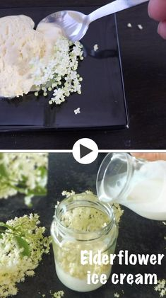 The floral scent of elderflowers turns this creamy ice cream into a special summer treat. This seasonal elderflower ice cream is rich and luscious with aromatic elderflower flavor. Sorbet, Easy Cooking, Cooking Recipes, Vegan Animals, Summer Treats, Edible Flowers, Plant Based Recipes, Quick Easy Meals, Healthy Dinner Recipes