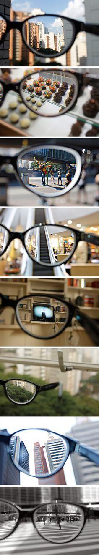 Así se ve el mundo cuando usas lentes. | Fiilosoraptor