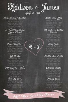Chalkboard Wedding Seating Chart- http://www.toptableplanner.com/blog/swinging-60s-wedding-table-plan $75.00, via Etsy.