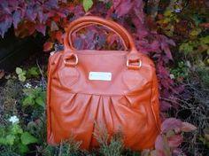 Burnt Orange Genuine Leather Pleated Perfection Handbag  $47.95