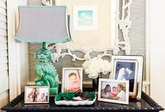 displaying family pictures; Design by  Hillary Thomas