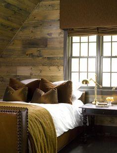 wood planking walls