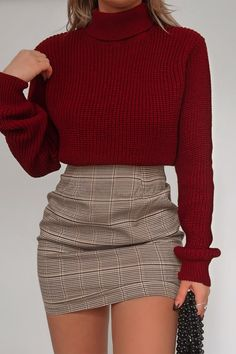 Fashion influx brown heritage check mini skirt - - Fashion influx brown heritage check mini skirt – Source by - Girly Outfits, Cute Casual Outfits, Pretty Outfits, Stylish Outfits, Casual Dresses, Red Outfit Ideas Casual, Classy Outfits For Teens, Beautiful Outfits, Winter Fashion Outfits