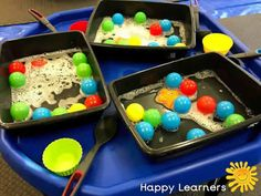 Sparkling Space Themed Tuff Tray for Toddlers-EYFS Children Baby Room Activities, Eyfs Activities, Infant Activities, Activities For Kids, Outdoor Activities, Outdoor Learning, Outdoor Games, Outdoor Play, Water Tray Ideas Eyfs