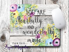You Are Fearfully and Wonderfully Made - Psalm 139:14 - Watercolor Flowers…