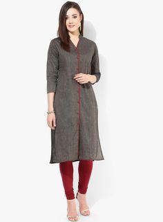 Buy Kira Grey Solid Kurta for Women Online India, Best Prices, Reviews | KI666WA40TOTINDFAS