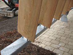 External Fa?ade Design For Vertical Louvers Wood   Home Decor Ideas