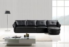 Contemporary Black Leather Match Sectional Sofa Set Couch Chair Chaise