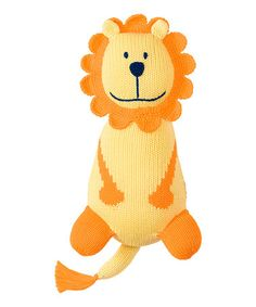 Another great find on #zulily! Yellow Lion Hand-Knit Plush Toy #zulilyfinds