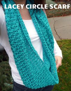Domestic Bliss Squared: Lacey Scarf Crochet Pattern.  Do as a triangle scarf.