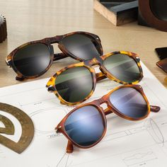 Persol's classic craftsmanship meets never-before-seen color combinations drawn from the natural world with Vintage Celebration sunglasses