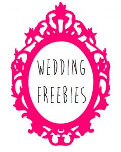 Sparklers, photo booth printables and more wedding freebies. Weddings on a budget.