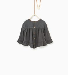 Image 3 of Loose fit embroidered blouse from Zara
