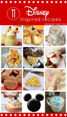11 Disney Inspired Recipes...from park copy cat recipes to recipes that remind you of Disney!