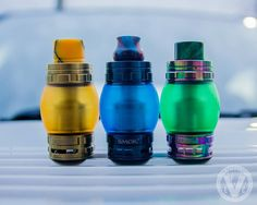 Nope, those aren't Christmas lights! They do make great gifts though. What we have here is the Smok TFV8 Cloud Beast w/ some of our 7.5mL Expansion Tanks & American Made Czar Drip Tips.  Don't keep your TFV8 basic... Spice it up with these and other acce