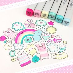 #kawaii #rainbow #doodle if you like #HowICopic please vote for me on the #HowDoYouCopic contest ✨ https://imaginationinternationalinc.com/contests/how-do-you-copic/ polls are open till June 14th and you can vote every 24 hours I'd be sooo happy if you'd support me there ☺️ #cute #copics #copicmarkers