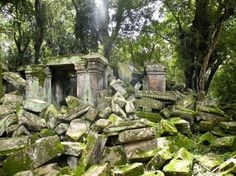 temple ruins by the cave