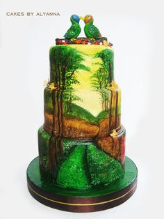 FOREST by Cakes by Alyanna (9/28/2012)  View cake details here: http://cakesdecor.com/cakes/30410