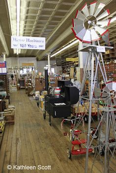 Henne Hardware in New Braunfels--selling everything you didn't know you needed for more than 150 years.  Hill Country Mysteries: New Braunfels -- More to do than you knew