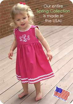 monogrammed dress~I'm not going to buy this...but I can use the idea and the monogram for a future granddaughter!