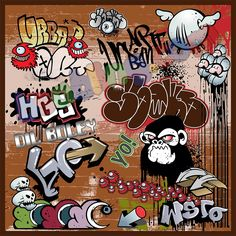 cute graffiti kids canvas prints for just rupees 1625 @bsabling.com #canvasprints #canvaspainting