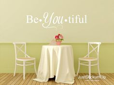 Beautiful (Beautiful) Wall Art in Words Vinyl Lettering Decals Stickers Free Ship to the U.S.