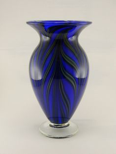 Hand Blown Art Glass Vase  Bright  Tropical  by ParadiseArtGlass, $45.00