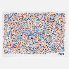 Paris map by vianina - Nina Wilsmann