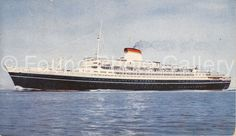 Italia Ocean Liner Color Postcard             by foundphotogallery