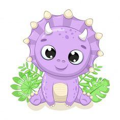 Dinosaur Play, Dinosaur Design, Cute Dinosaur, Dinosaur Crafts, Die Dinos Baby, Baby Dinosaurs, Dinosaur Illustration, Illustration Vector, Lama Animal