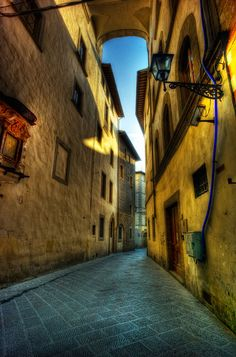 """Nice Alley Way in Florence  I liked the light and """"emptiness"""" of this alley in Florence..."""