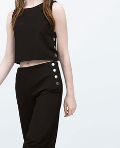 Image 3 of TROUSERS WITH SIDE SNAPS from Zara