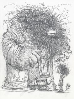 Skottie Young: #DailySketch Hagrid. Inspired by @Carol McHarg Great piece yesterday. Quick 15 minute warm up