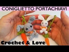 Tutorial Mini Coniglietto Amigurumi portachiavi o segnalibro - YouTube