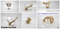 Collection Les compagnons de la Pirate - Les collections Le boudoir de la Pirate présentent les bijoux de créateur, Alex Karaglam et proposent des pièces uniques réalisées à la main.
