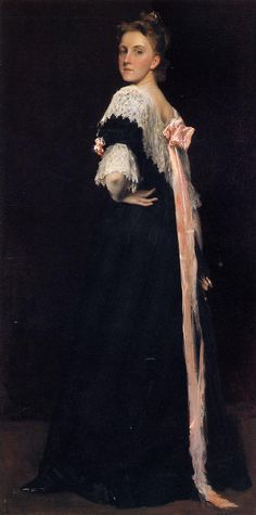 The Athenaeum - Portrait of Miss E. (William Merritt Chase - circa 1892)