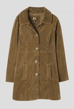 Woodview Coat | Stylish, military inspired coat in soft velvet. Cut to flatter, with button up front, turn down collar, two slit pockets and a subtle anchor print lining. Perfect for outfitting with just about anything.