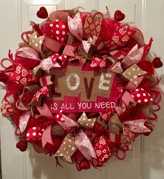 A personal favorite from my Etsy shop https://www.etsy.com/listing/569576288/valentine-wreath-valentines-day-wreath