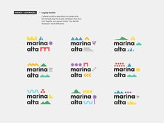 Marca Turística: La Marina Alta on Behance City Branding, Logo Branding, Brand Identity Design, Branding Design, Beer Logo Design, Dynamic Logo, Brand Architecture, Typo Logo, Typography