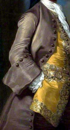 Detail from portrait of Captain Richard Chadwick (d.1748) by George Knapton…