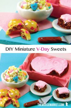 Learn how to make dollhouse miniature sweets for Valentine's Day out of polymer clay! #dollhouseminiature #minifood