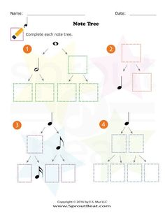 Dividing Note Value – SproutBeat – Musik Learning Music Notes, Music Math, Music Classroom, Music Education, Elementary Music Lessons, Music Lessons For Kids, Music For Kids, Piano Lessons, Music Theory Worksheets