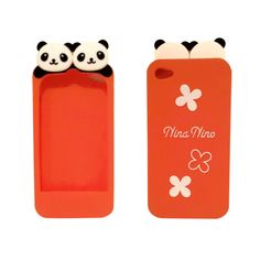 Super cute panda iPhone 4 / 4S case (orange).  Buy  now for only $14.99!