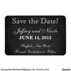 Custom Save the Date Wedding