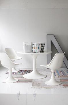 Varpunen Dining Room Saarinen Table and Chairs, Remodelista
